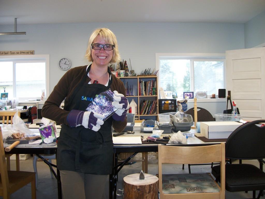 Margo Anton in her studio