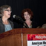 2012 Volunteer of the Year, Terri Pulley with E.D. Dawnmarie Zimmerman