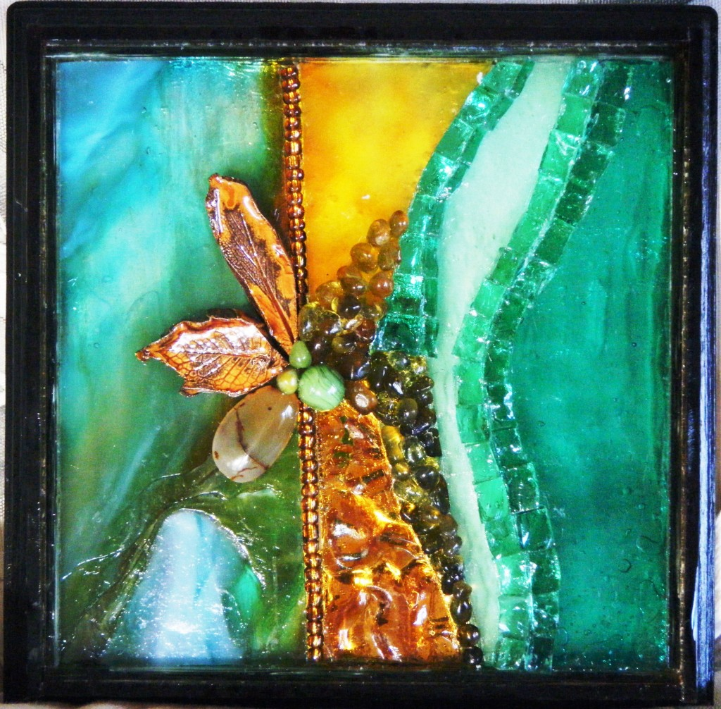 Gold Green Mosaic by Penny Collins