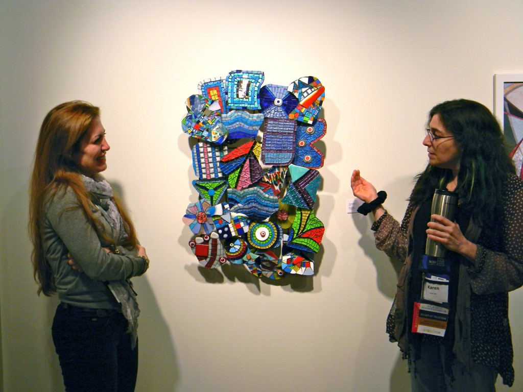 """Hullabaloo 1"" by Banu Cevikel (left) with Karen Ami"